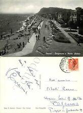 Cartolina di Pesaro, lungomare e Monte Ardizio - Pesaro Urbino, 1955