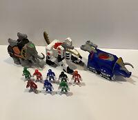 Huge Imaginext Power Rangers Black Blue Green Red Rangers & Tiger Zord + More!