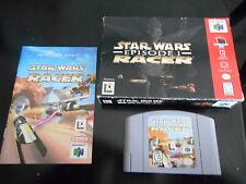 Star Wars: Episode I: Racer  (Nintendo 64 N64 1999) COMPLETE & TESTED!!!