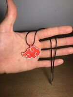 Naruto Shippuden Akatsuki Red Cloud Necklace Anime Cosplay Pendant