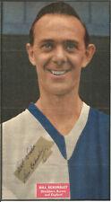 Football Autograph Bill Eckersley Signed Newspaper Picture & Bio Sheet F427