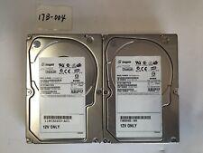 - 2x  73GB Dell   Seagate ST373307FCV 9V3007 40P Fibre Channel 10K Hard Drive