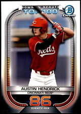 Austin Hendrick 2021 Bowman 5x7 Scout's Top 100 #BTP-86 /49 Reds