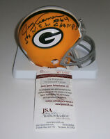 PACKERS Jerry Kramer signed mini helmet w/ 5X Champs JSA COA AUTO Autographed
