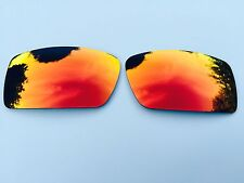 POLARIZED FIRE RED MIRRORED REPLACEMENT OAKLEY FUEL CELL LENSES