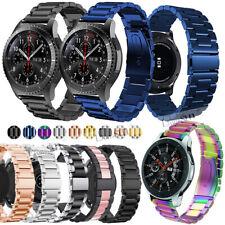 Black/Silver Stainless Steel Metal Bracelet Wrist Watch Band Strap 18 20 22mm