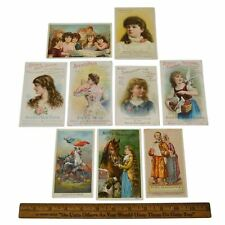 Antique Advertising TRADE CARD Lot; 9 AYER'S CURES Hair Vigor SARSAPARILLA Pills