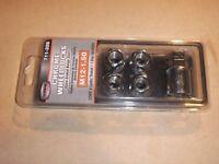 Dorman 711-326 4 Chrome Wheel Locks M12-1.50 Open Ended Bulge Seat+1 Key New