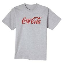 COCA COLA COKE SCRIPT LOGO GRAY T SHIRT L   NEW!!