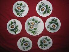 ART NOUVEAU 7 pcs porcelain COASTER SET GERMANY craft mosaic supply tile ANTIQUE