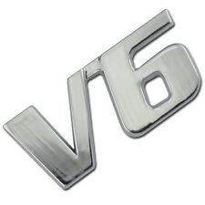 CHROME METAL V6 LITER ENGINE RACE MOTOR SWAP EMBLEM BADGE FOR TRUNK HOOD DOOR A