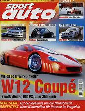sport auto 12/01 2001 Arden Jaguar XKA BMW M3 GTR Mercedes SL 500 MVR Mini 911