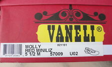 Womens Vanelli Red Small Wedge Shoe Sz. 5.5 in Soft Leather
