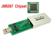 SINTECH M.2(NGFF) SATA3 KEY B+M SSD to USB 3.0 adapter card External Case JMS567