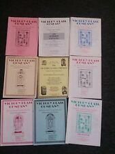VICTORY GLASS COMPANY-lot of 9 parts catalogs-from the 1980's & 90's