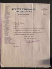 Movie Letterhead Fox Film 6/26/19 Ali Baba & The Forty Thieves George Stone