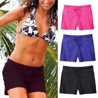 Women's Swim Shorts Tankini Bottom Bikini Sport Yoga Board Beach Swimwear, Black