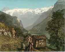Unterwalden. Engelberg. Aussicht auf die Spannörter vom Weg übers Bergli.  Photo