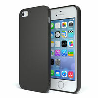 Slim Cover für Apple iPhone SE / 5 / 5S TPU Softcase Silikon Hülle Schwarz