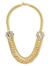 Banana Republic Chain Reaction Crystal Glamour Necklace NWT 129.5