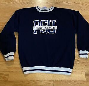 Vintage Crable Sportswear Penn State U  Nittany Lions Sweatshirt Blue M/L