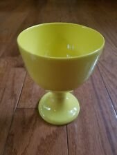 "FITZ & FLOYD ""TOTAL COLOR"" YELLOW FINE CHINA GOBLET pre-owned EXCELLENT!"