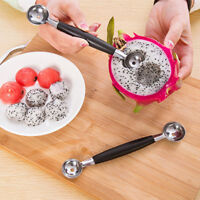 Practical Kitchen Tool Fruit Melon Scoop Baller Double Spoon Stainless Steel