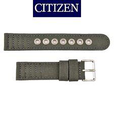 Citizen Original Eco-Drive Men's BJ9130-05E Gray Canvas 20mm Watch Band Strap