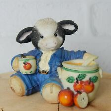 Vintage Marys Moo Moos Sweet Warm Wonderful Cow Figurine #142832 Enesco Decor