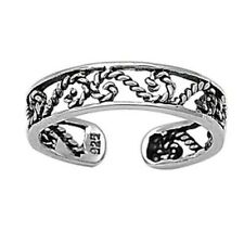 mm Solid Sterling Silver 925 Usa Seller Filigree Design Toe Ring Face Height 4