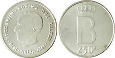 BELGIQUE  , BAUDOUIN  ,  250  FRANCS  ARGENT  1976  DER  BELGEN 2 ,  SUPERBE