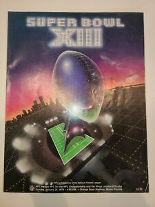 Vintage 1979 Super Bowl XIII Program - Pittsburgh Steelers vs Dallas Cowboys