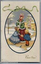Bambini Buon Anno Illustratore Italiano PC Circa 1930 Childrens 5