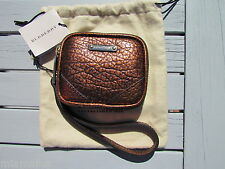 NEW BURBERRY Brindley ITALY $375 dust bag coin purse wristlet wallet key leather