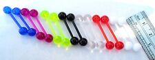 7 Pair No Metal Sensitive Allergy Nipple Piercing Jewelry 14 gauge 14g Bioplast