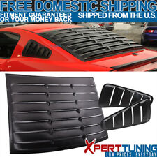 Fits 10-14 Ford Mustang GT V6 V8 Vintage Style Vent Side + Rear Window Louver