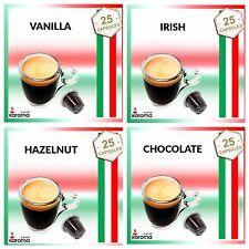 100 Capsules Compatible Nespresso Machines! VANILLA,IRISH,HAZELNUT,CHOCOLATE!