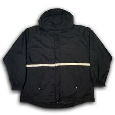 Vintage Nike Winter Jacket Ski Coat 2 Layer 90s Swoosh Men's Size XL Black/Blue
