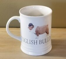 English Bulldog Wearing Hat Best Dog Porcelain 16 Oz Mug Julianna Swaney Fringe
