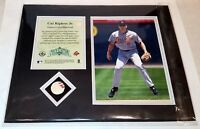 """Upper Deck CAL RIPKEN JR. """"Piece of the Action"""" Game Used Baseball Photo 8x10"""