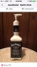 Jack Daniels Soap/Lotion/BBQ Sauce etc. Glass Bottle Dispenser Size  375 ML.