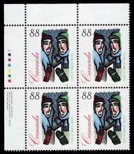 Canada Stamp #1535 - Plate Block UL Outdoor Carolling (1994) 88¢ Christmas  MNH