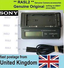 Genuine originale Sony AC-VQ850 CARICABATTERIE L & M serie NP F970 F960 HVR-Z1E Z7E
