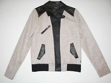 New Hurley Womens Faux Leather Full Zip Snap Up Casual Fashion Jacket Small