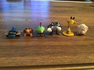 LOT OF 6 Pokemon Tomy Vintage Nintendo Figures CGTSJ Rare Toys - Poliwhirl+ More