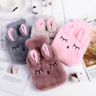 Portable Reusable Warm Hot Water With Bottle For Adult Kid Cover Fur Faux Fluffy