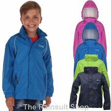 REGATTA KIDS FIELDFARE WATERPROOF BREATHABLE RAIN COAT JACKET BOY GIRL AGE 5-12Y