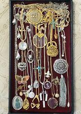 26 Piece Vintage and Modern Chains w/ Pendants Necklace Lot - Sarah, Trifari