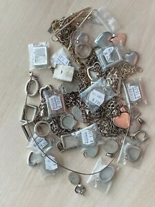 REDUCED - 1 LOT SS925  CHARMS, BRACELETS, NECKLACES, PHOTO FRAMES, NEW & USED