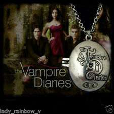 The Vampire Diaries Vervain Elena Katherine Box Necklace Antique Silver Locket